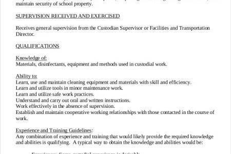 janitor job description resume free professional resume