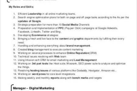 Digital Marketing Cv Format 4k Pictures 4k Pictures Full Hq