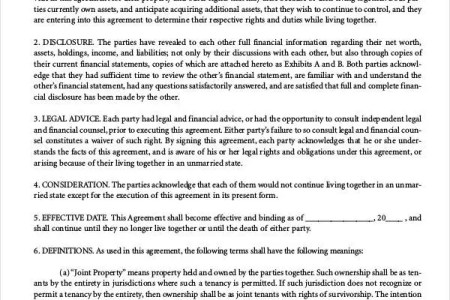 Invoice Templates 2019 Sample Cohabitation Agreement Ontario