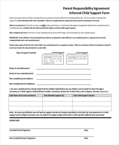 10+ Child Support Agreement Templates - PDF, DOC | Free ...