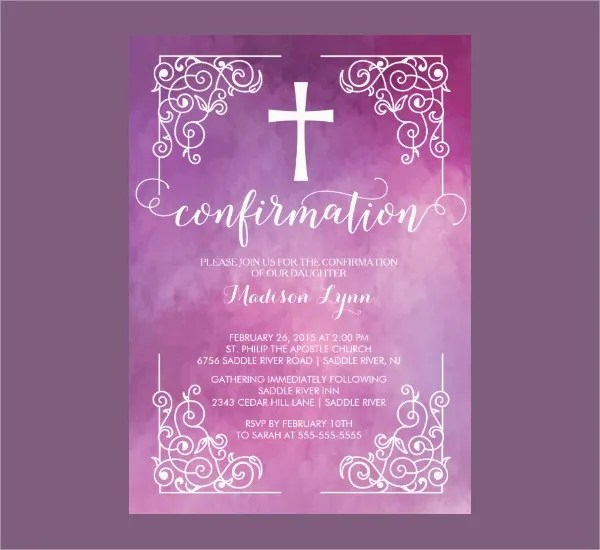 Sample Invitation Card Baptism