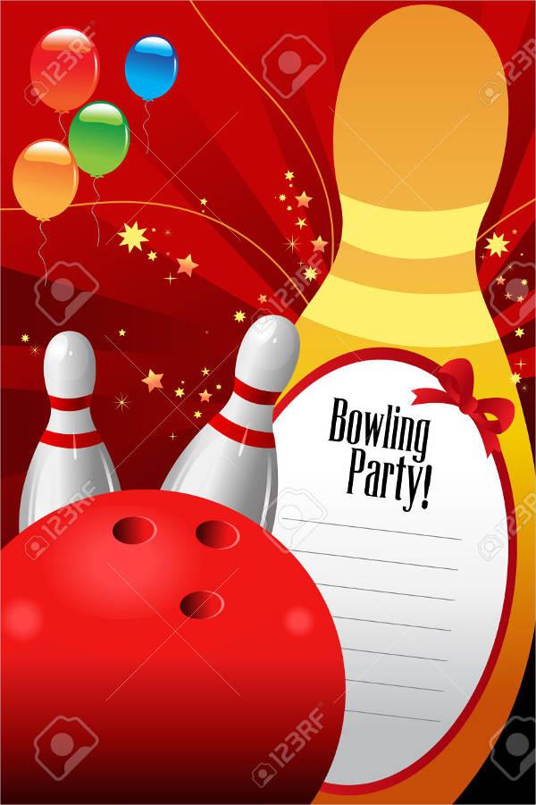 Birthday Invitations Bowling
