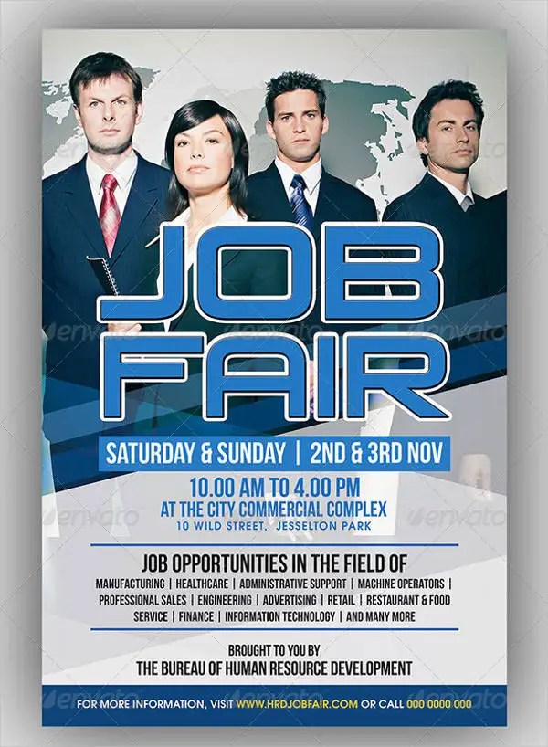 10 Job Fair Flyer Samples Psd Word Ai Indesign