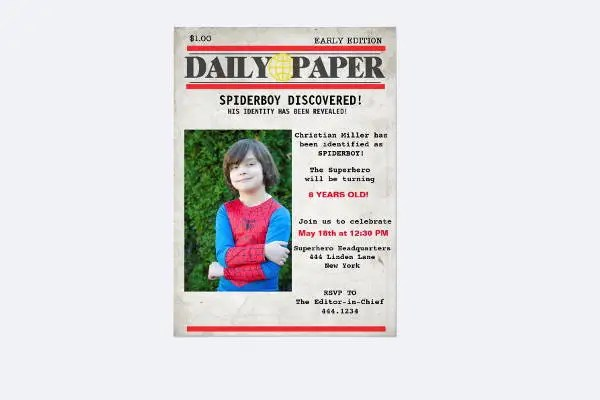 5  Birthday Newspaper Templates   Word  PDF  PSD  Indesign Format     Birthday Announcement Newspaper Template