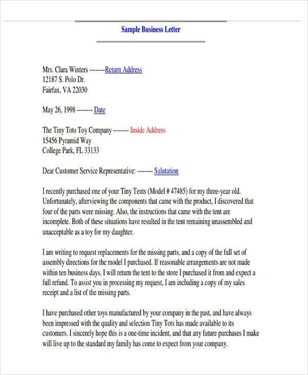 Business Letter Salutation