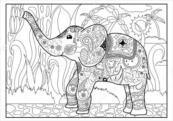 jungle coloring page # 19