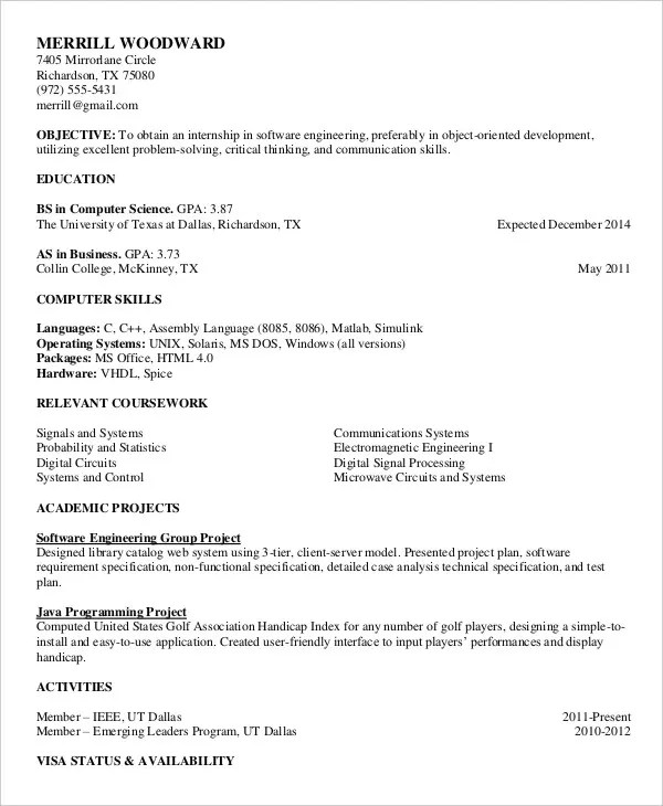 Printable Blank Resume Fill Out