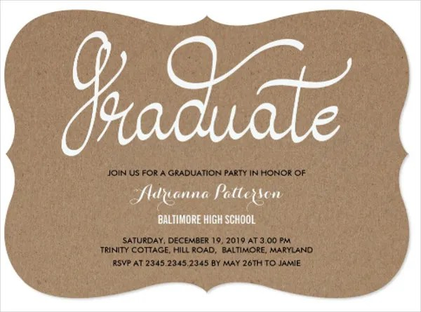 2017 High School Graduation Invitations