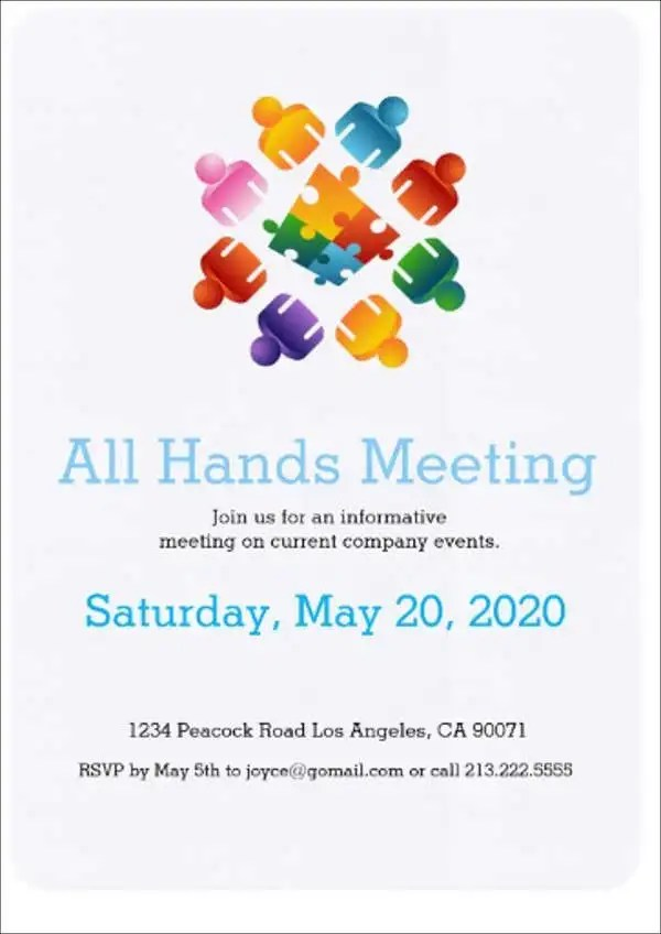 38 Meeting Invitation Designs Psd Ai Word Indesign