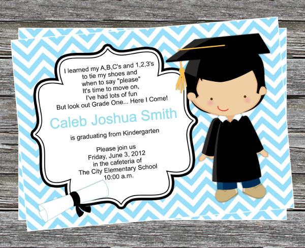Kindergarten Graduation Invitations Wording