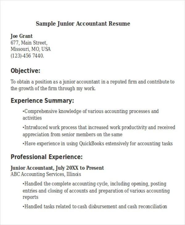 30 Accountant Resume Templates Download Free Amp Premium