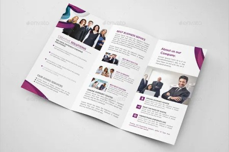 38  Business Brochure Template PSD   Free   Premium Templates Business Trifold Brochure Templates  Multipurpose Business Trifold