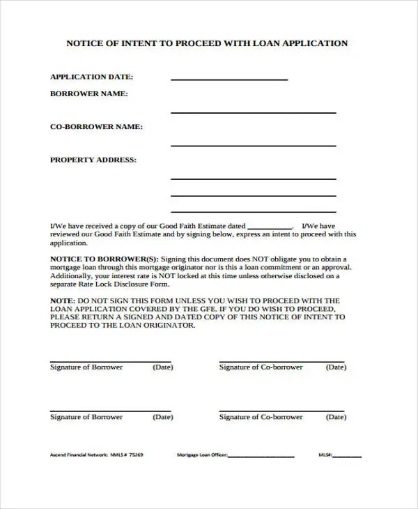 Letter Intent Template Pdf