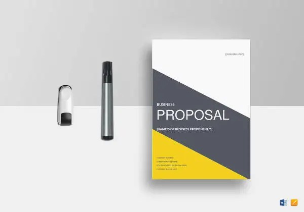Small Business Proposal Templates   15 Free Word  PDF Format     Business Proposal Template