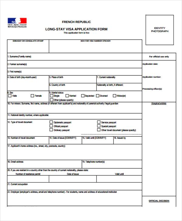 48 Application Form Templates Free Amp Premium Templates