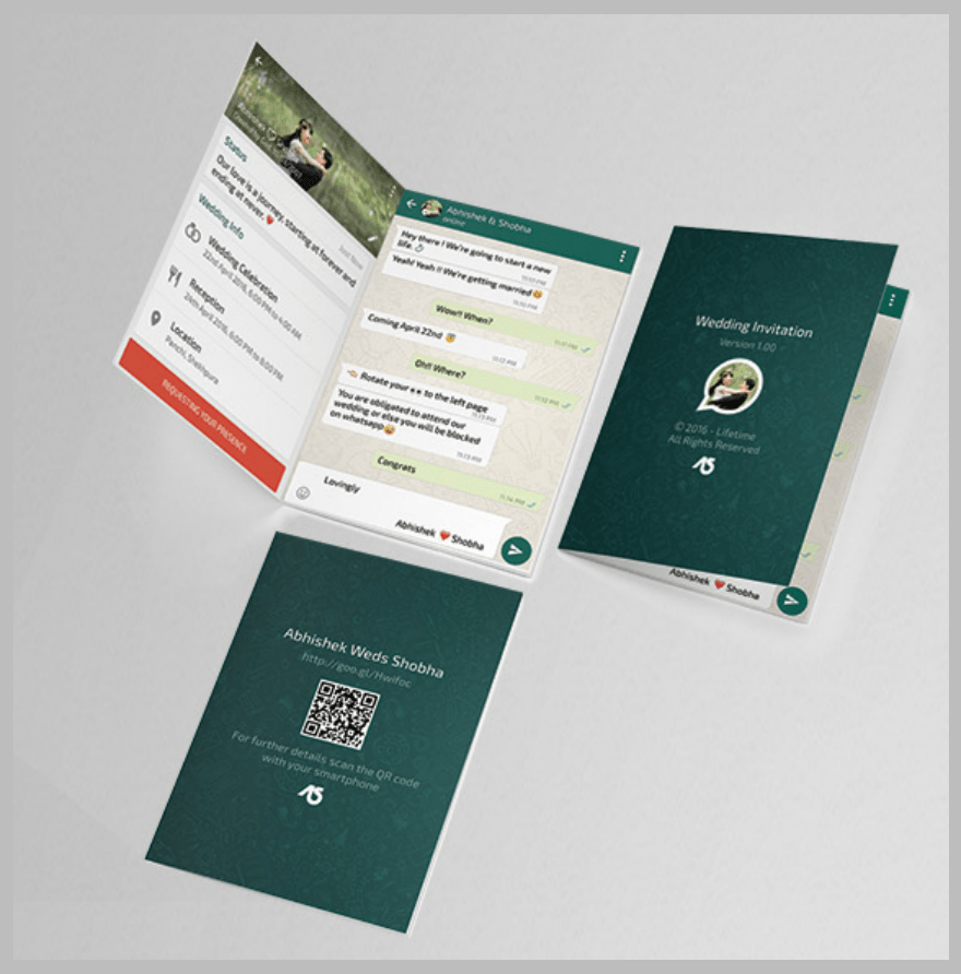 Personal Invitation Cards Marriage