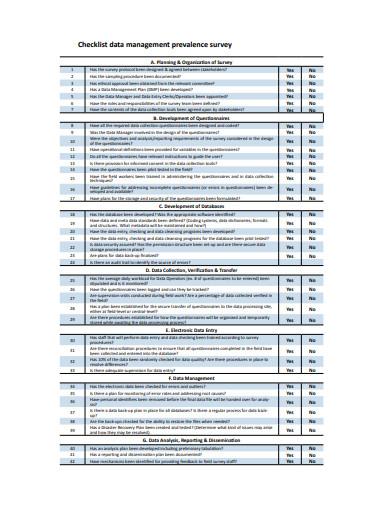 Checklist Xls Security Database