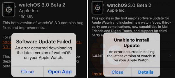 Top 3 Apple watchOS 3 Update Problems and How to Fix Them apple watchos 3 update failed