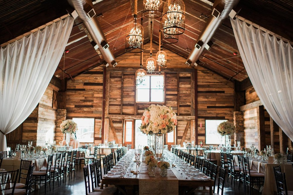 Elegant Barn Wedding Featuring Bold Red Blooms By Mibellarosa Designs