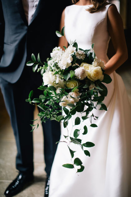 Lauren Langholz And Dylan Seibert S Romantic Neutral Winter Wedding