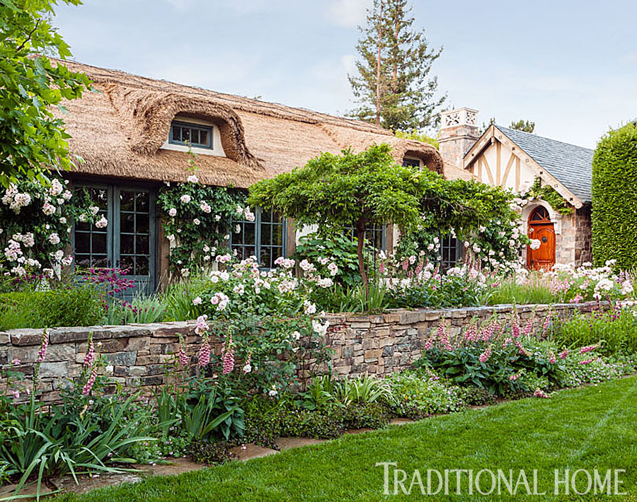 Old World Garden In California Traditional Home