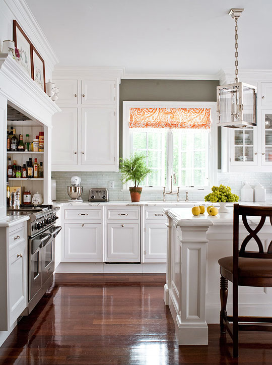 L Shaped Kitchen Family Room