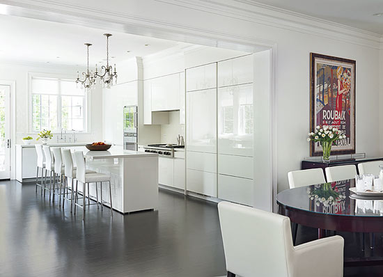 Design Ideas for White Kitchens   Traditional Home Clean   Contemporary White Kitchen