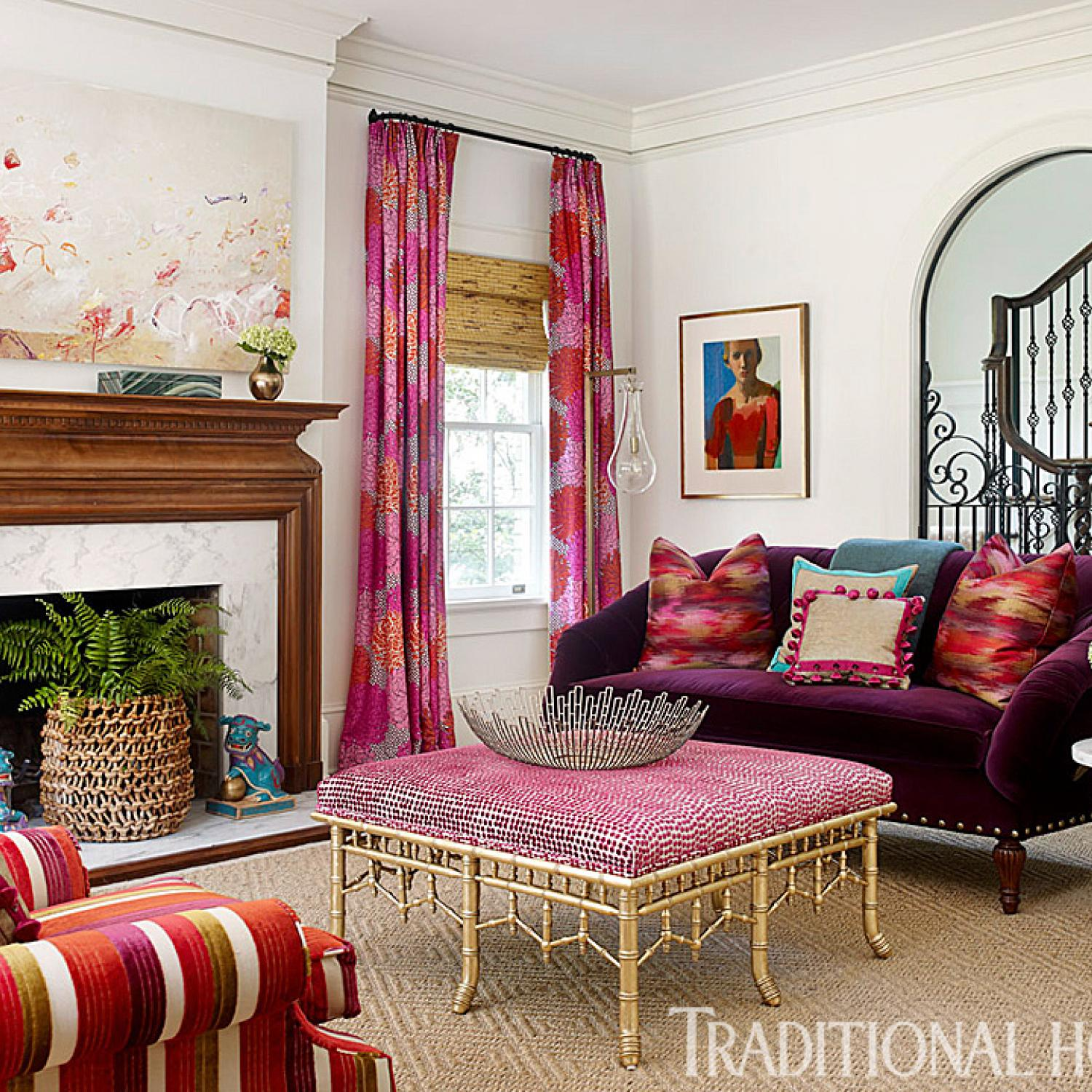 Pink In Every Room Traditional Home