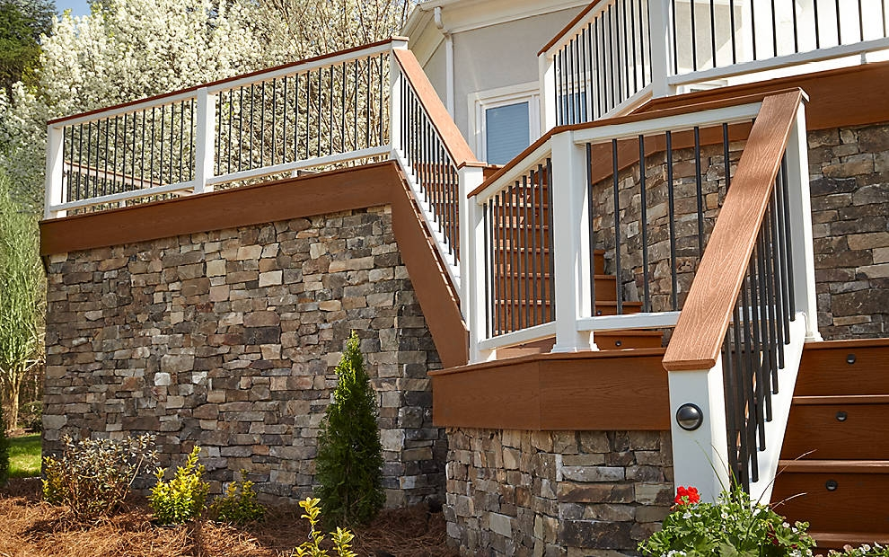 Trex® Fascia Boards The Finishing Touches For Any Deck Trex   Trex Enhance Stair Railing   Trex Deck Railing Installation   Clam Shell   Lighting   Installation Instructions   Composite Decking