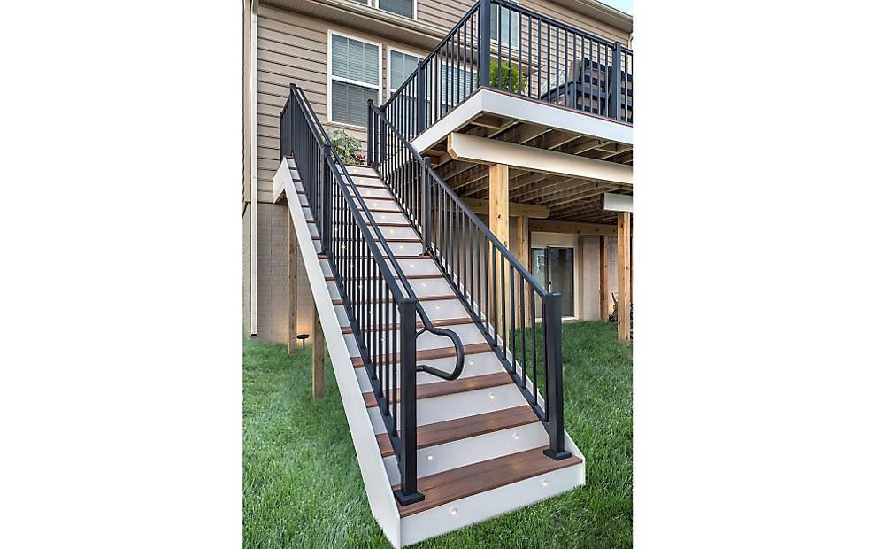 Ada Handrail Systems For Decks Trex | Ada Compliant Exterior Handrails | Deck Railing | Hand Rail | Cable Railing | Wheelchair Ramp | Stair Railing