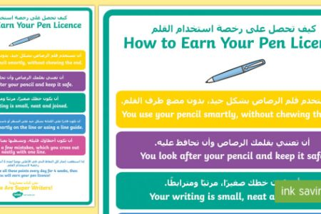 Pen Licence Display Poster English Home Rumah
