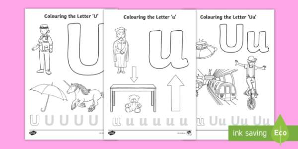 letter u coloring pages # 15