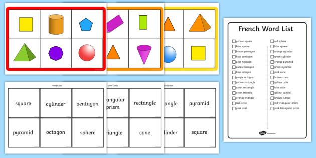 Shape Bingo Printable Game