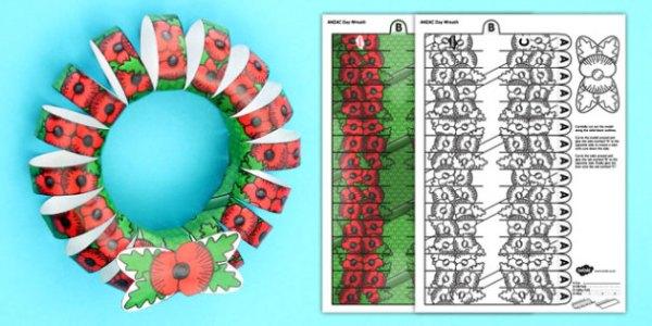 wreath template anzac day # 2