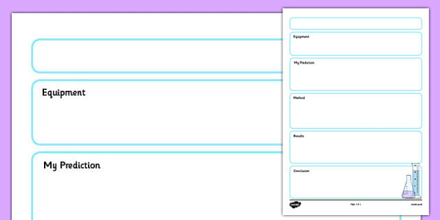 Science Experiment Planning Sheet