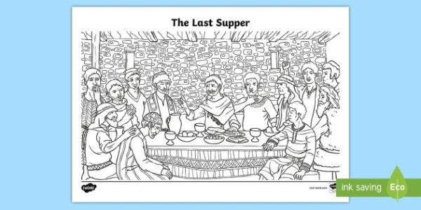the last supper coloring page # 27