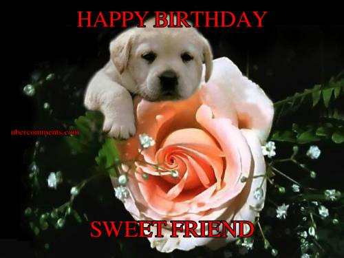 Happy Birthday Sweet Friend Birthday Graphics For