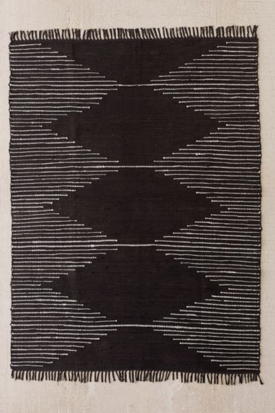 Area Rugs   Throw Rugs   Urban Outfitters Connected Stripe Rag Rug