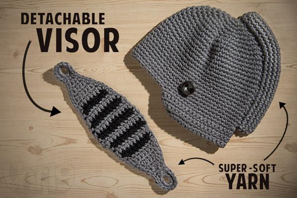 Knight S Helmet Crochet Pattern