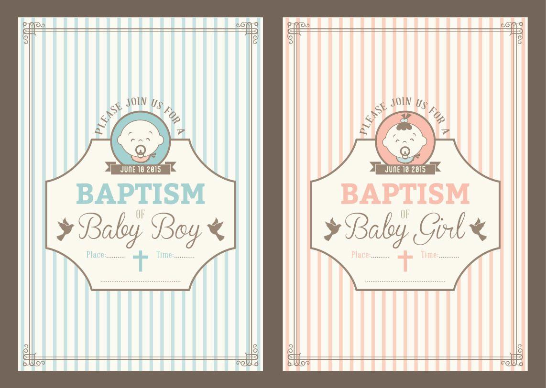 Free Maker Invitation Baptismal