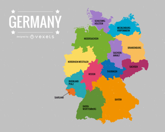 Deutschlandkarte Germany Map Vector   Vector download Deutschlandkarte Germany Map Vector