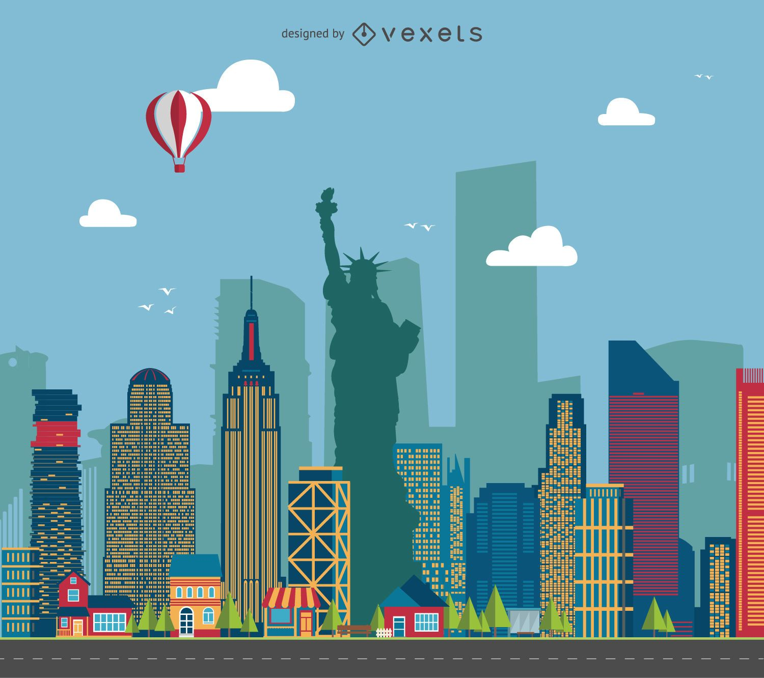 New York State Silhouette Vector