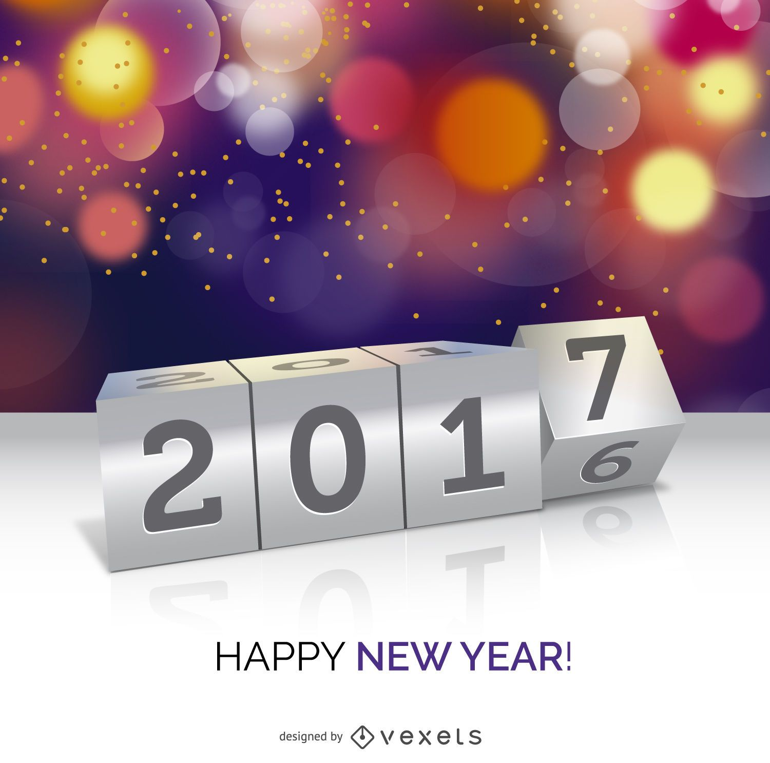 2017 New Year concept poster   Vector download image  user