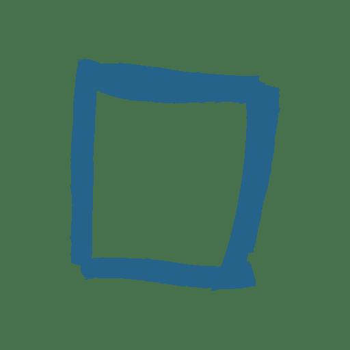 Artistic square message box - Transparent PNG & SVG vector