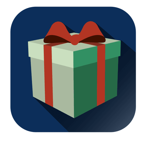 Gift box 3D square icon - Transparent PNG & SVG vector