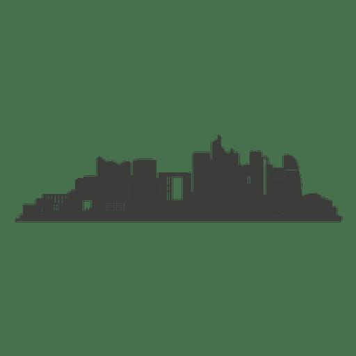 La defense skyline silhouette - Transparent PNG & SVG vector