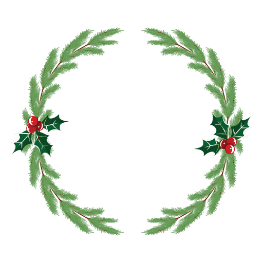 Background Wreath Watercolor Transparent Greenery