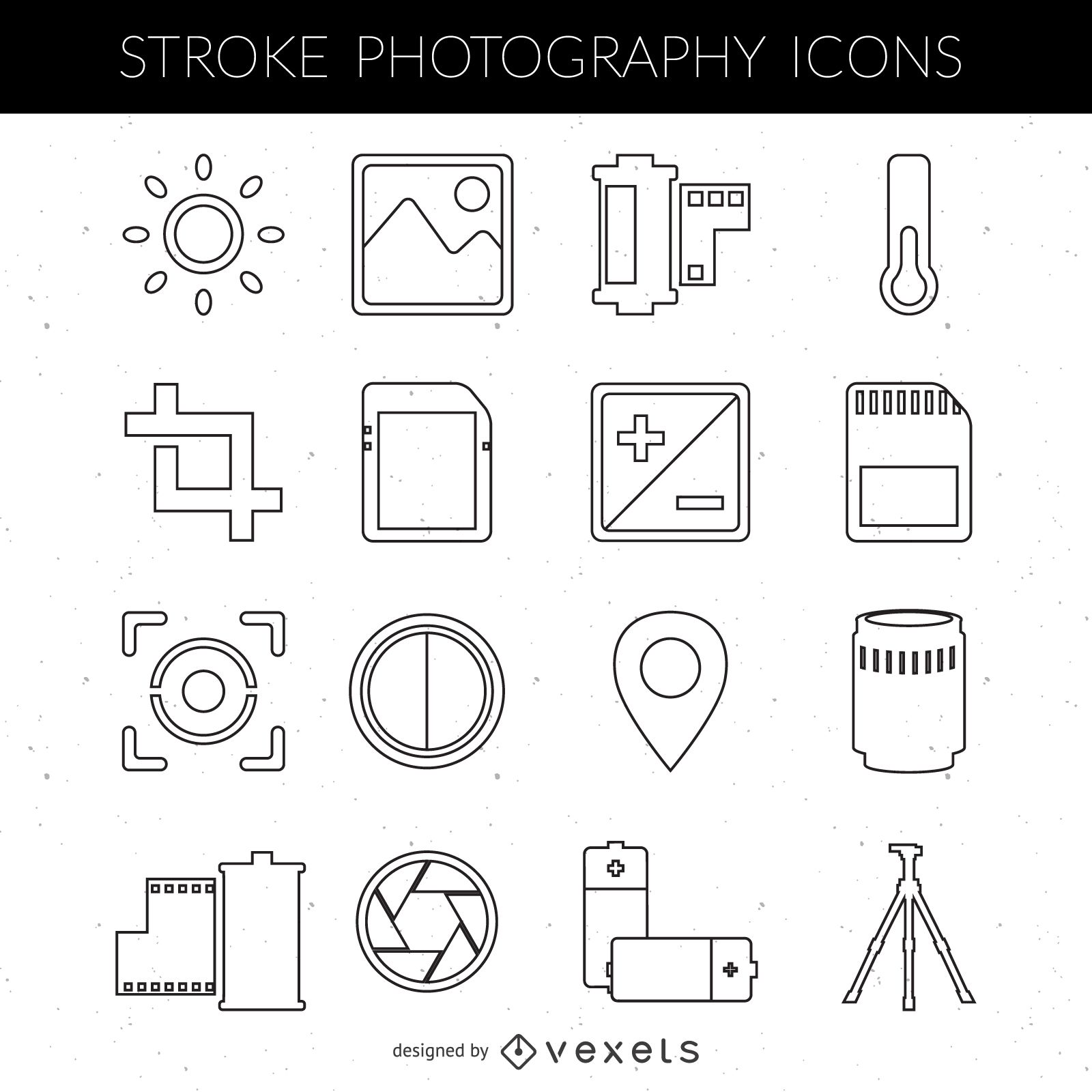 Stroke Photogr Phy Ic Collecti Vect Downlo D