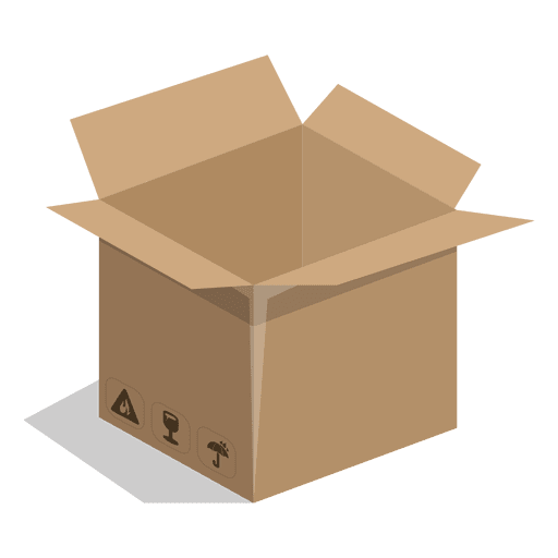 Square box with package signs - Transparent PNG & SVG vector