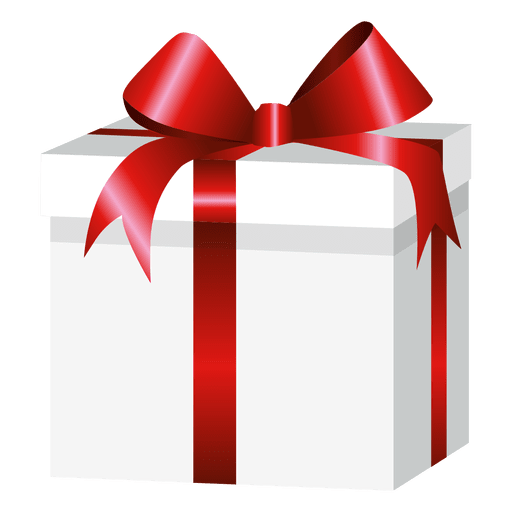 Square wrapped gift box - Transparent PNG & SVG vector